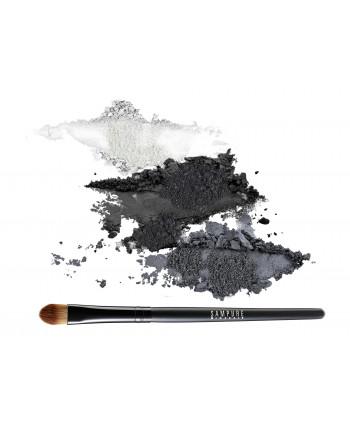 GRAPHITE - 3 eye shadow set + professional eye shadow brush