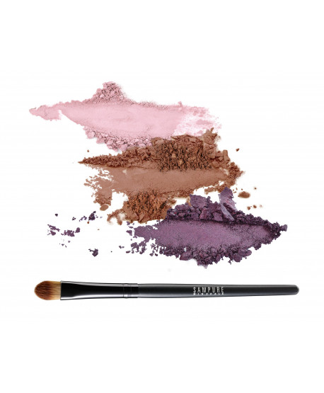 MOCHA - 3 eye shadow set + professional eye shadow brush