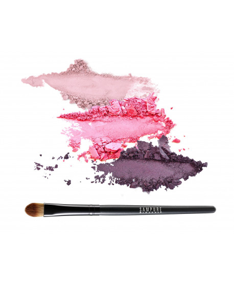LILAC - 3 eye shadow set + professional eye shadow brush